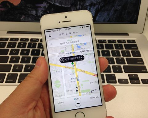 Uber app in Chinese