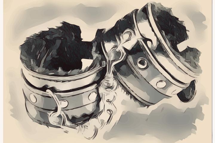 illustration of padded wrist cuffs