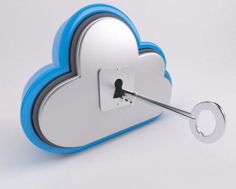 key inserted into cloud