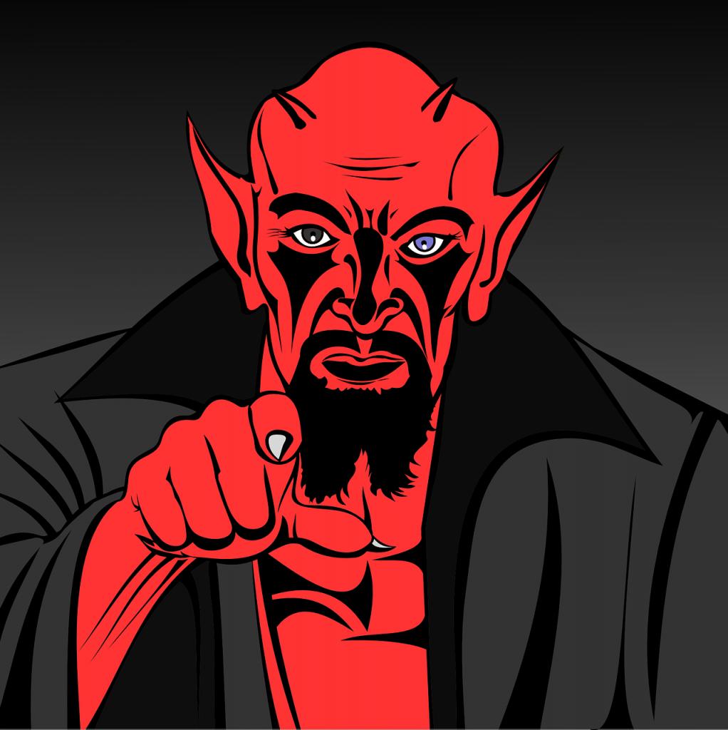 illustration of a demon