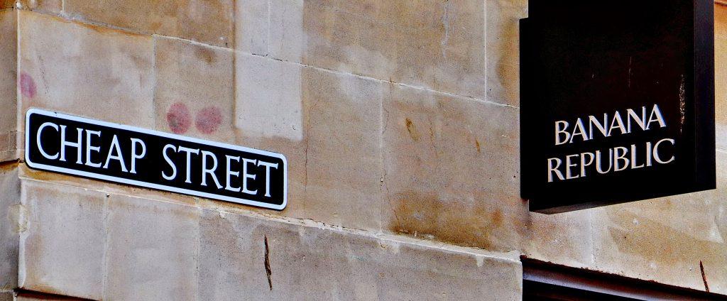 Cheap Street street sign